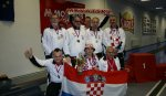 Croatia man nine pin bowling team won a silver medal at 12.IBSA EC